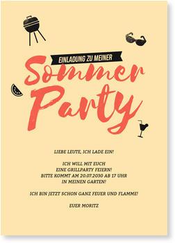 Einladungskarten Sommerfest, Retrocolors
