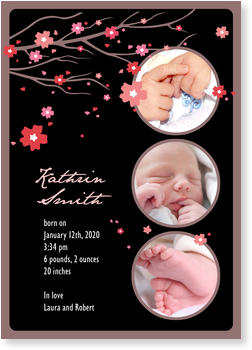 Baby Photo Cards – a fab presentation of your little one, Sakura Baby