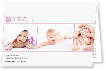 Baby Photo Cards – a fab presentation of your little one, Our Baby Girl is here!