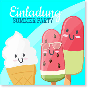 Einladungskarten Party, Coole Party