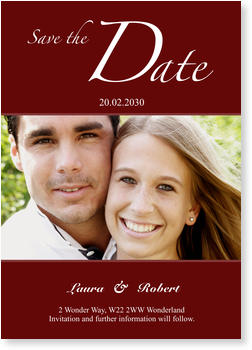 Save the Date Cards for your Wedding Day, Save the Date - Red