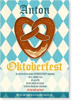 Einladungskarten Oktoberfest, Brezel