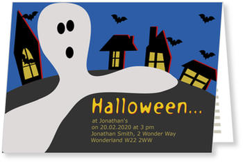 >Halloween Party Invitations for a spooky celebration, Ghost Town