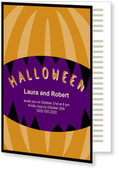 >Halloween Party Invitations for a spooky celebration, Jack O Lantern