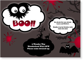 >Halloween Party Invitations for a spooky celebration, Halloween - Boo!
