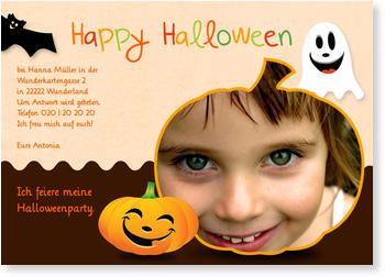 Halloween Einladungskarten , Happy Halloween