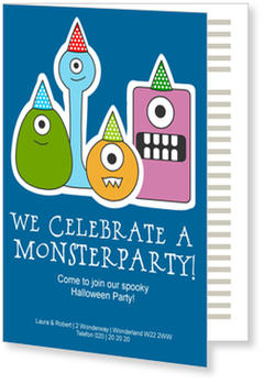 >Halloween Party Invitations for a spooky celebration, Little Monsters