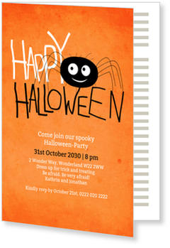 >Halloween Party Invitations for a spooky celebration, Itsy Spider