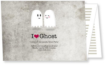 >Halloween Party Invitations for a spooky celebration, I love Ghost