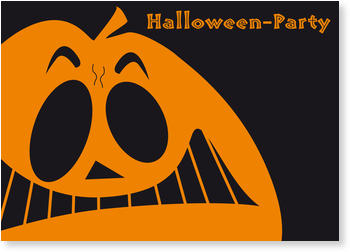 >Halloween Party Invitations for a spooky celebration, Pumpkin Face