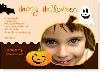 >Halloween Party Invitations for a spooky celebration, Little Pumpkin