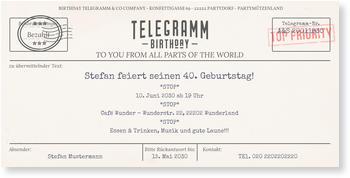 Einladungskarten 40 Geburtstag Lieferzeit 1 2 Werktage