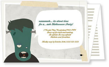 >Halloween Party Invitations for a spooky celebration, Halloween - Frankenstein