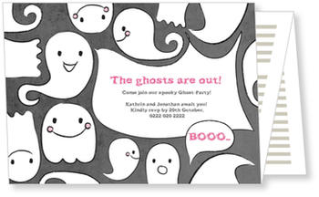 >Halloween Party Invitations for a spooky celebration, Ghost Party!