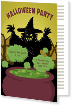 >Halloween Party Invitations for a spooky celebration, Halloween - Scary Witch