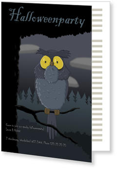 >Halloween Party Invitations for a spooky celebration, Big Owl