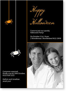 >Halloween Party Invitations for a spooky celebration, Little Spiders